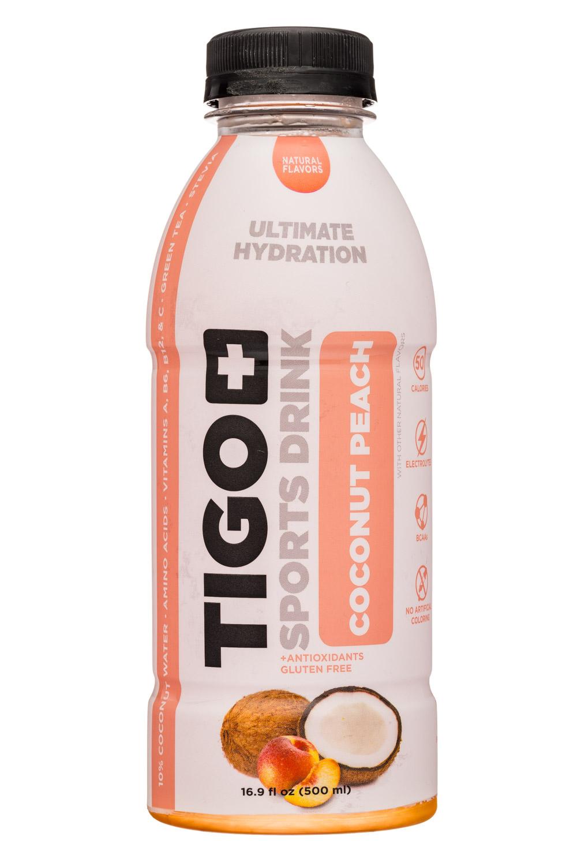 Tigo: Tigo-17oz-SportsDrink-CoconutPeach-Front