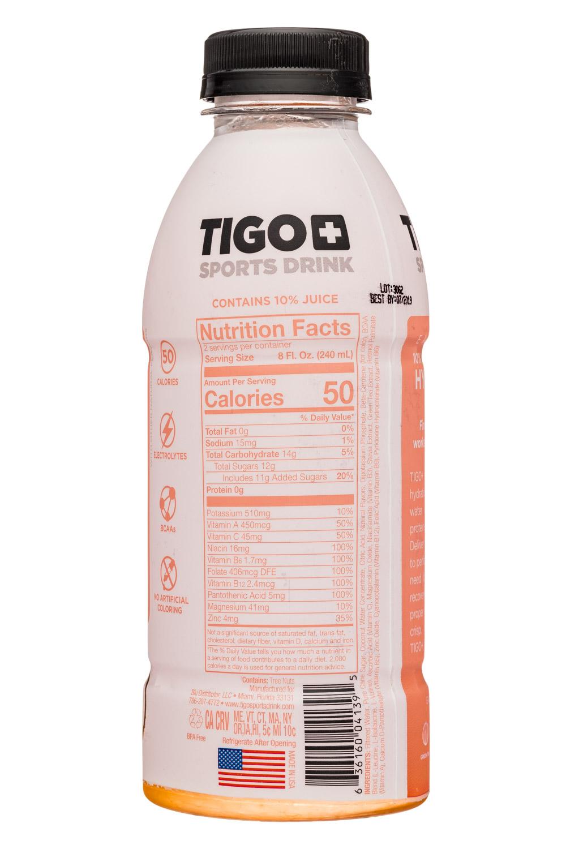 Tigo: Tigo-17oz-SportsDrink-CoconutPeach-Facts