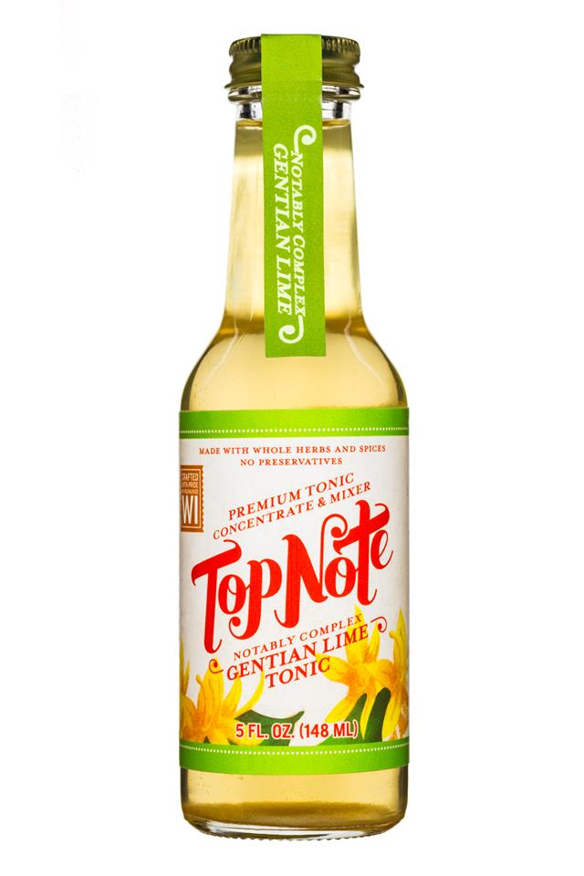 Top Note Tonics: TopNote-5oz-Mixer-GentianLimeTonic-Front