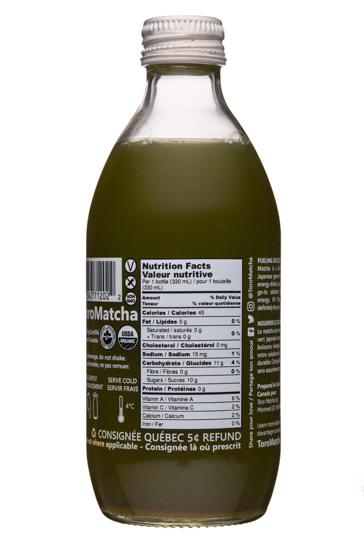 Toro Matcha: ToroMatcha-11oz-LemonMint-Facts