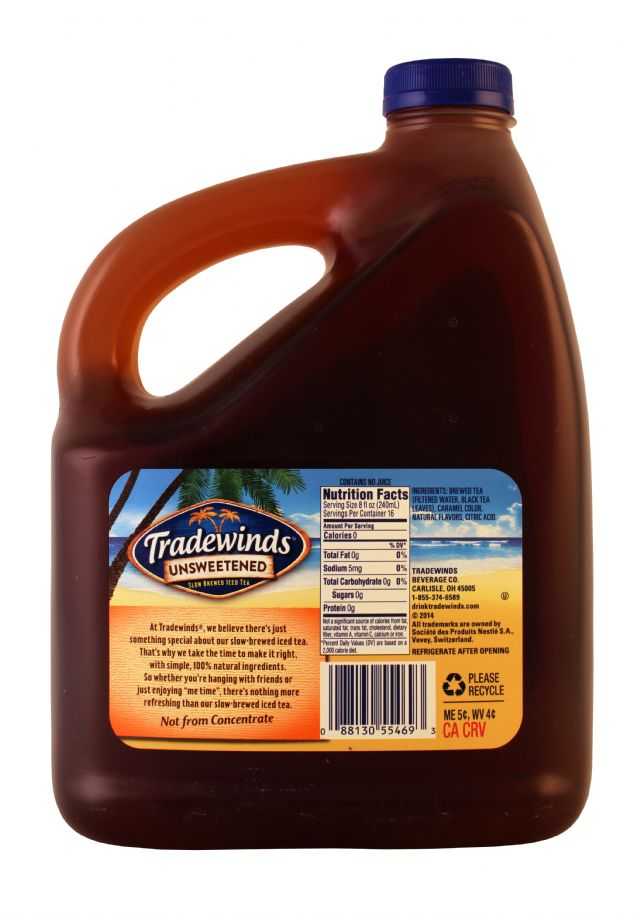 Tradewinds Tea: Tradewinds UnsweetPeach Facts
