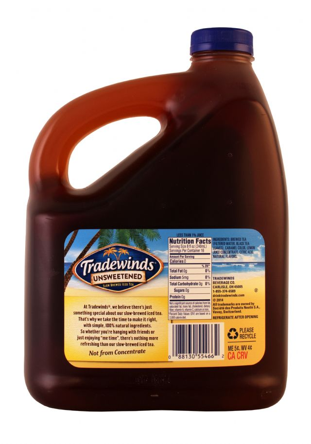Tradewinds Tea: Tradewinds UnsweetLem Facts