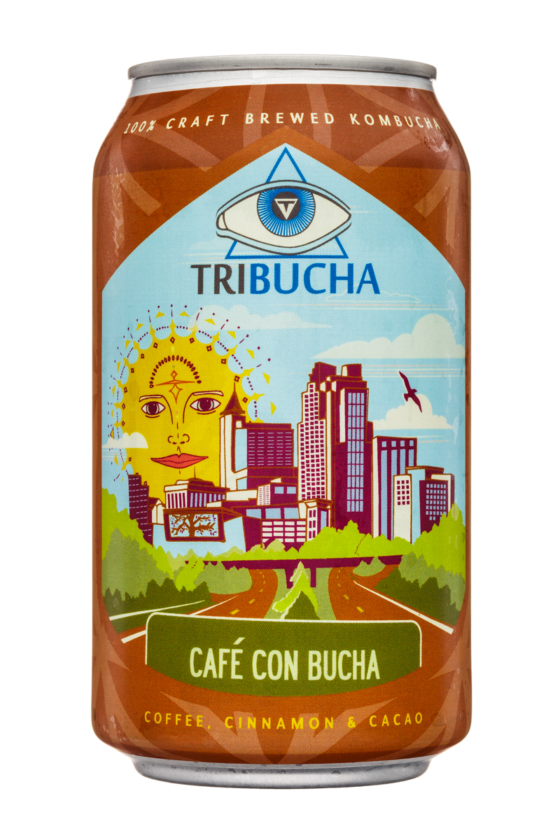 Tribucha: Tribucha-12ozCan-CafeConBucha-Front