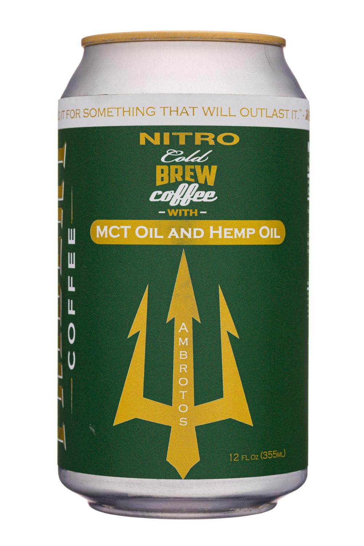 Nitro Cold Brew Coffee with MCT & Hemp Oil