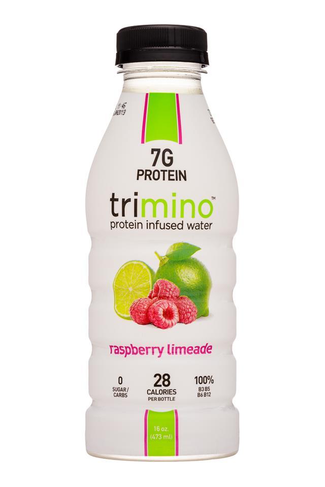 Trimino: Trimino-16oz-ProteinWater-RaspLemonade-Front
