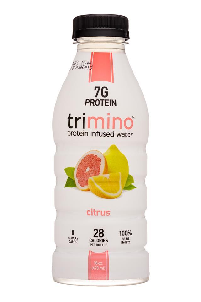 Trimino: Trimino-16oz-ProteinWater-Citrus-Front