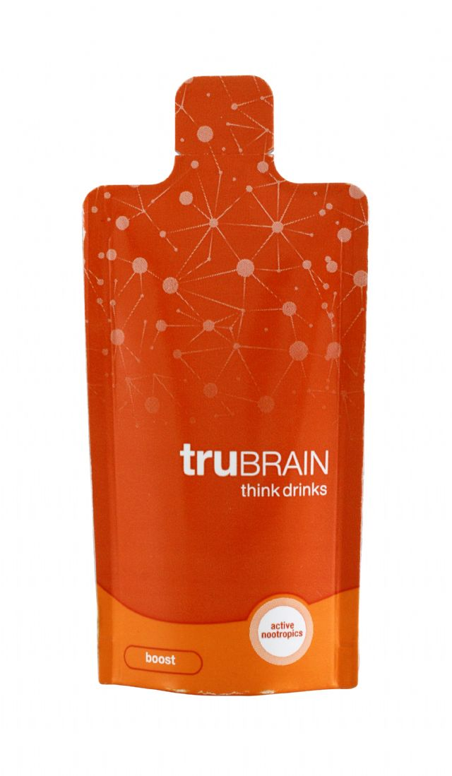 truBRAIN think drinks: TruBrain Boost Front