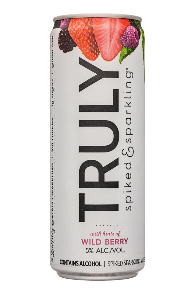 Truly Spiked & Sparkling: Truly-355ml-SpikedSparkling-WildBerry-Front