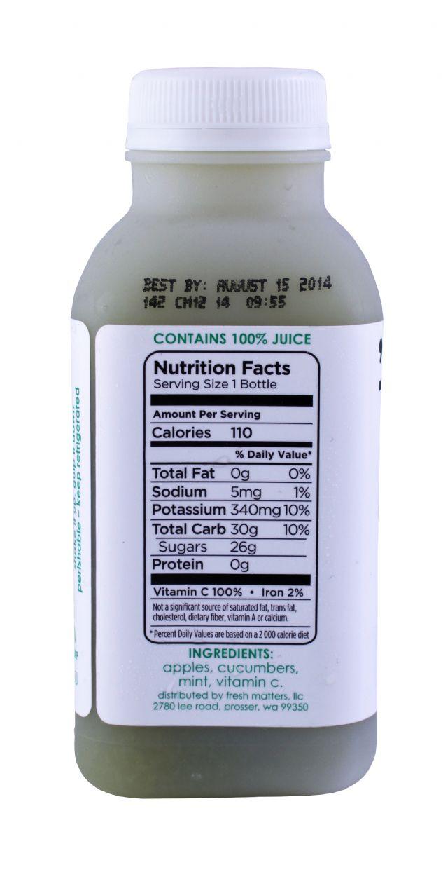 'tude juice: Tude CucumberMint Facts