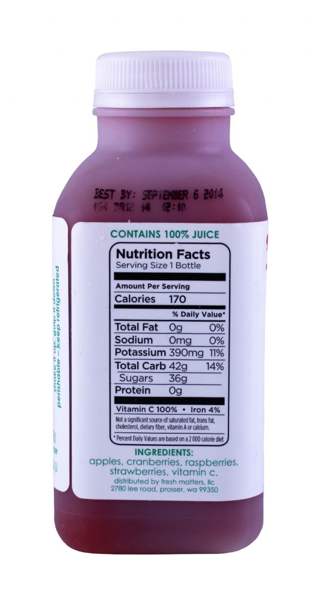 'tude juice: Tude BerryRed Facts
