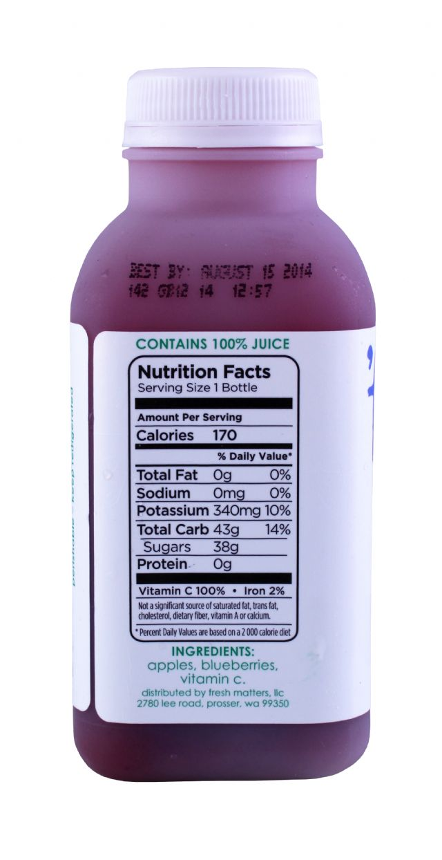 'tude juice: Tude Blueberry Facts