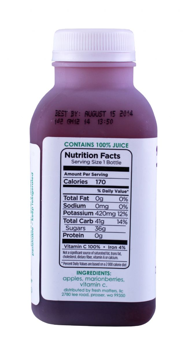 'tude juice: Tude Marionberry Facts