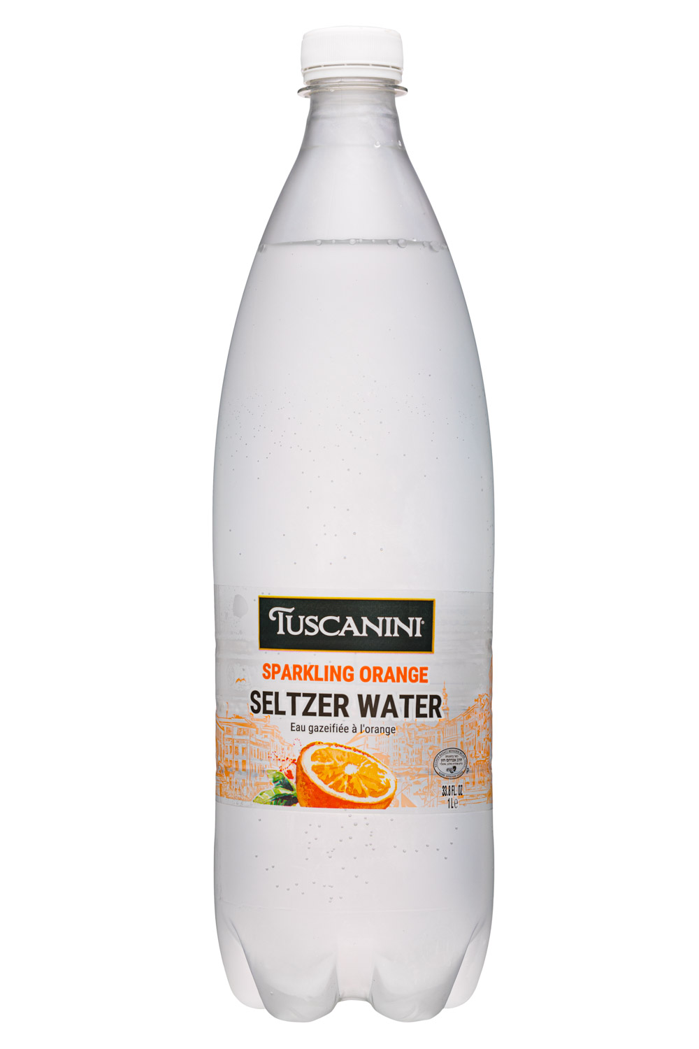 Sparkling Orange Seltzer Water