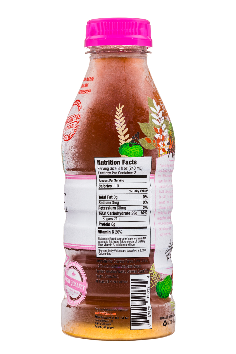 Unique Flavors: UniqueFlavors-16oz-Tea-VegSyopa-Facts