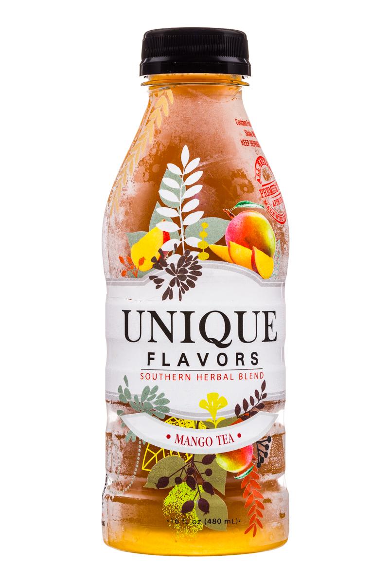 Unique Flavors: UniqueFlavors-16oz-Tea-Mango-Front