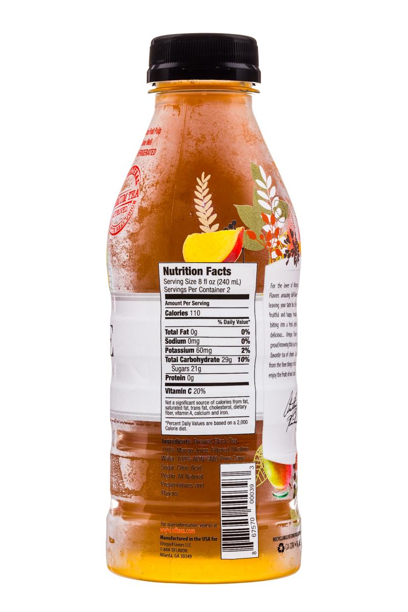 Unique Flavors: UniqueFlavors-16oz-Tea-Mango-Facts