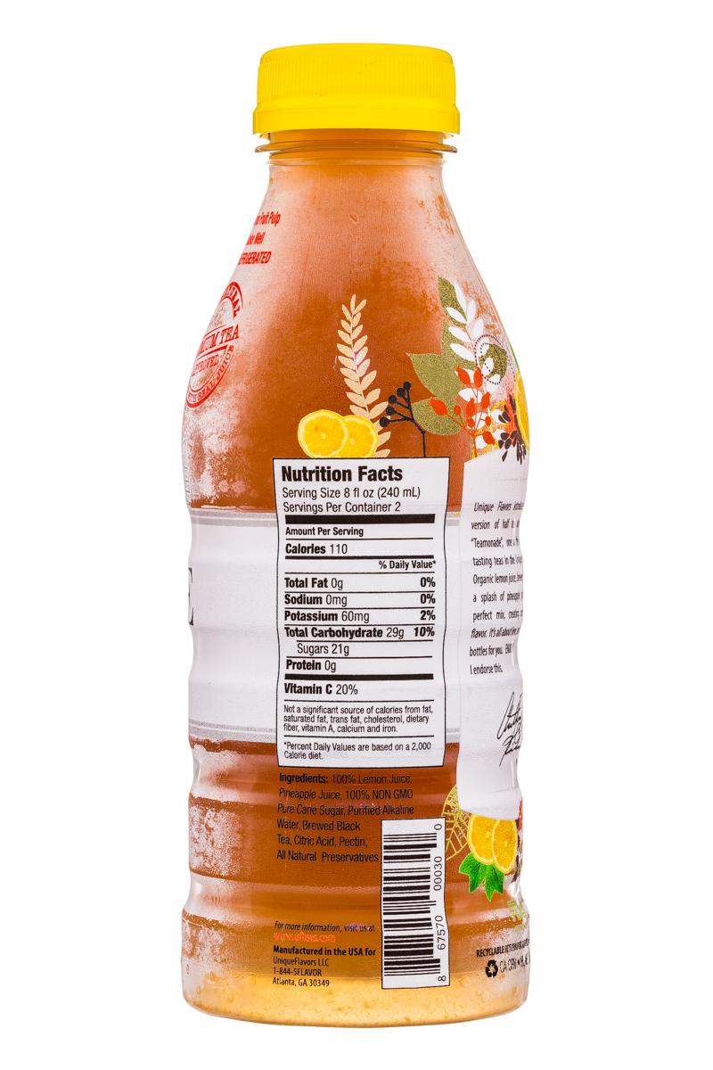 Unique Flavors: UniqueFlavors-16oz-Tea-Teamonade-Facts
