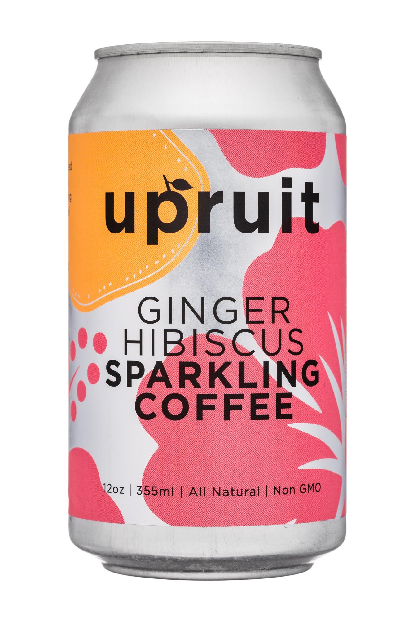 Upruit: Upruit-12oz-SparklingCoffee-GingerHibiscus-Front