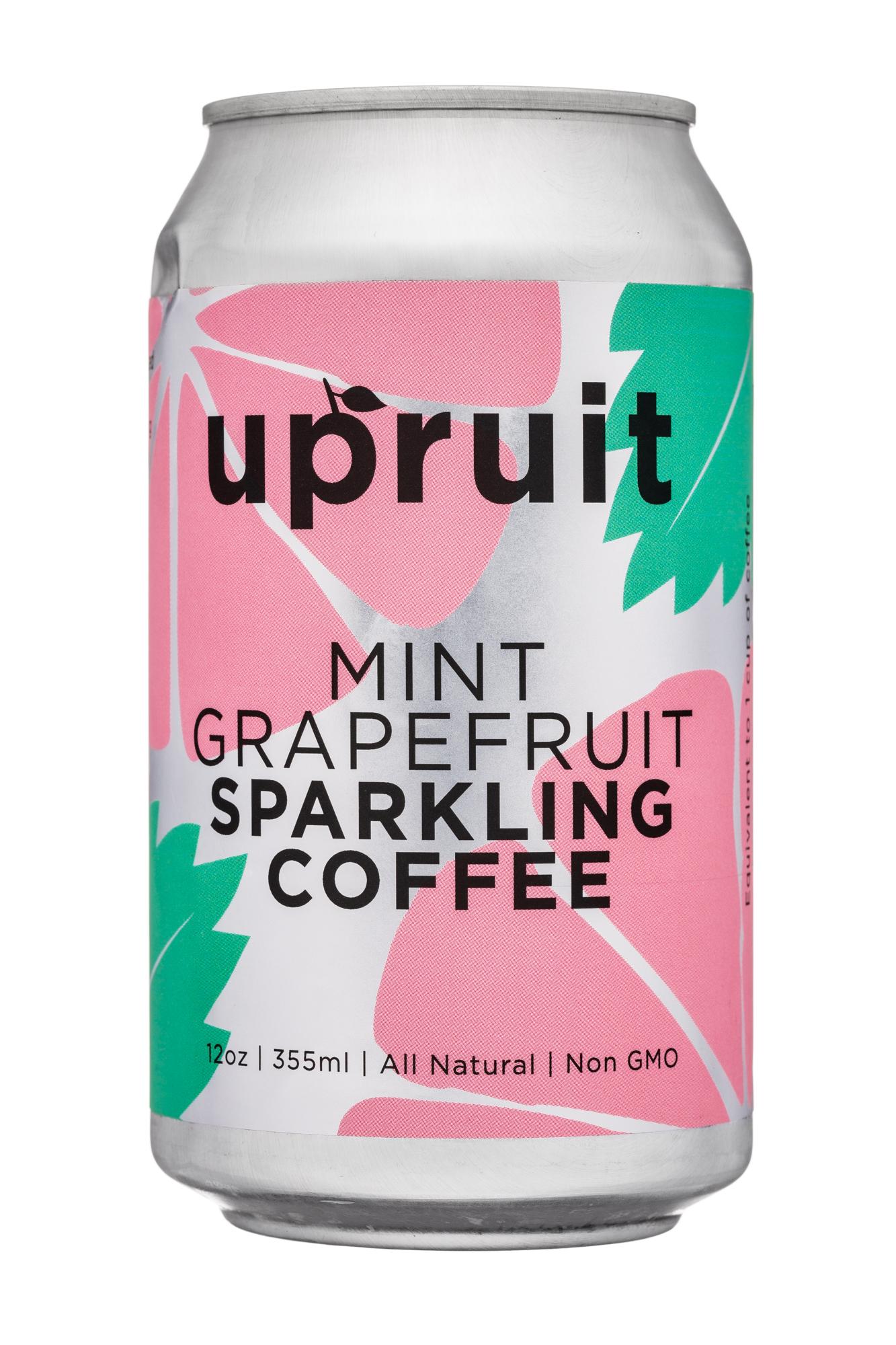 Upruit: Upruit-12oz-SparklingCoffee-MintGrapefruit-Front