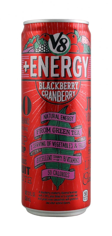 V8 +Energy: V8 BlackCran Front