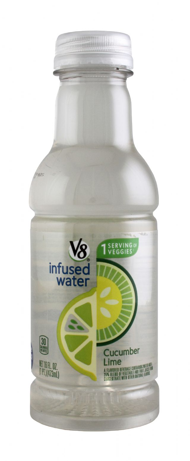 V8 Infused Water: V8Infused CucLime Front