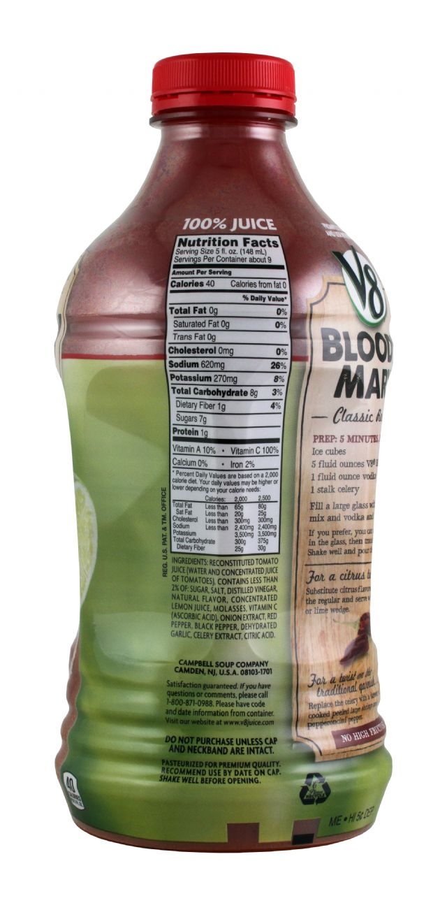 V8 Bloody Mary Mix: V8 BloodyMary Facts