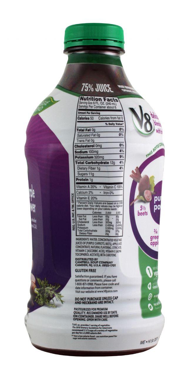 V8 Veggie Blends: V8 PurplePower Facts