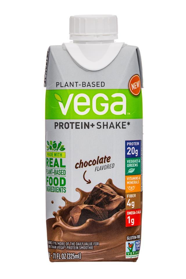 Vega Protein+ Shake: Vega-11oz-ProteinShake-Choc-Front