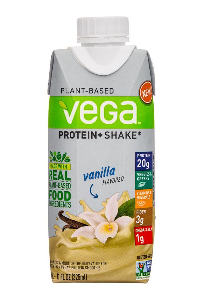 Vega Protein+ Shake: Vega-11oz-ProteinShake-Vanilla-Front
