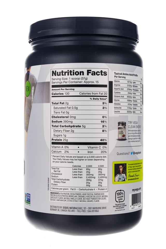 Vega: Vega-CleanProtein-Choc-Facts