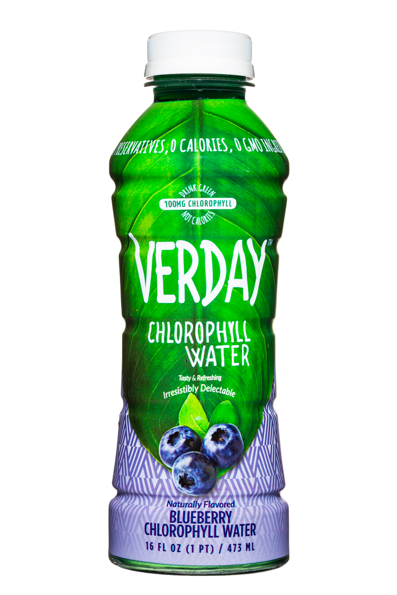 Verday: Verday-16oz-ChlorophyllWater-Blueberry-Front