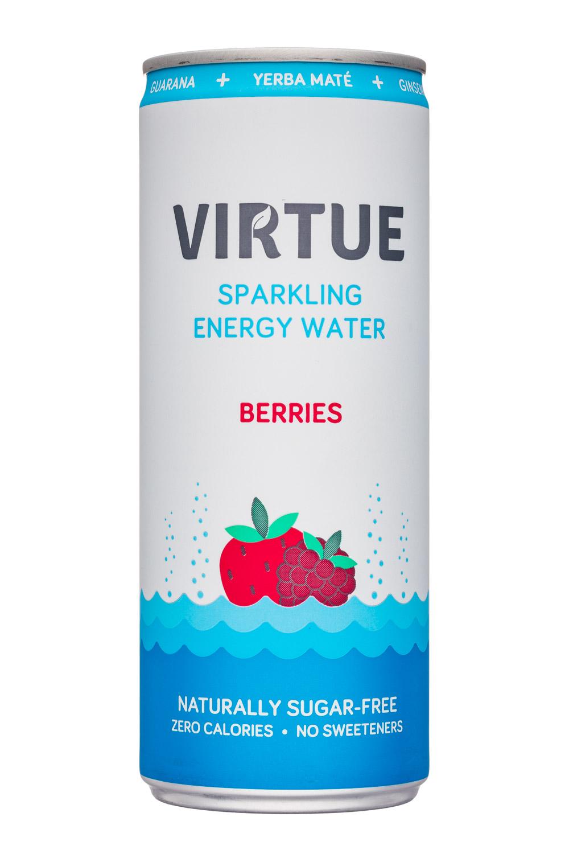 Virtue Drinks: Virtue-SparklingEnergyWater-Berries-Front