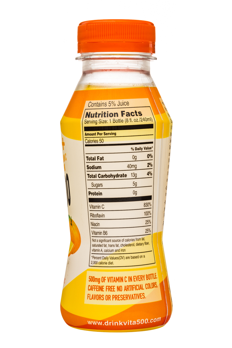 Vita 500: Vita500-8oz-VitCDrink-Orange-Facts