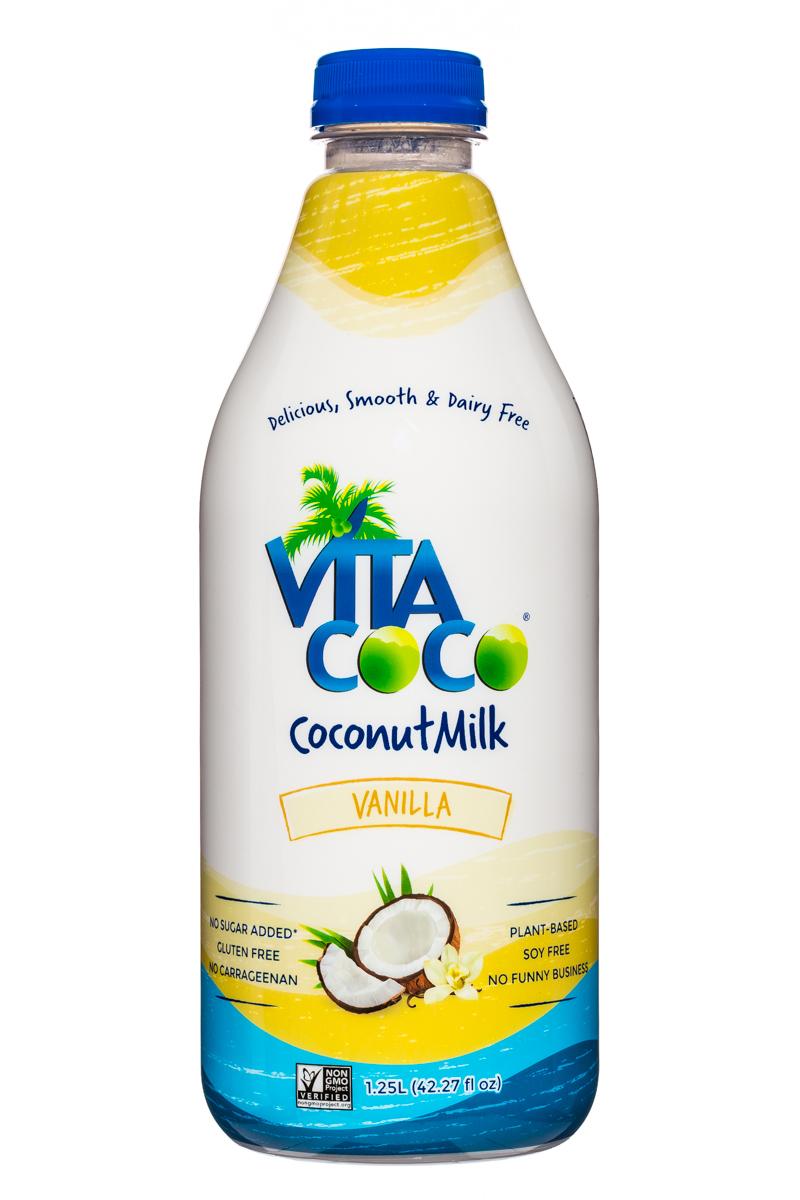 Vita Coco Coconut Water: VitaCoco-CoconutMilk-42oz-Vanilla-Front