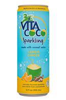Vita Coco Coconut Water: VitaCoco-12oz-Sparkling-LemonGinger-Front