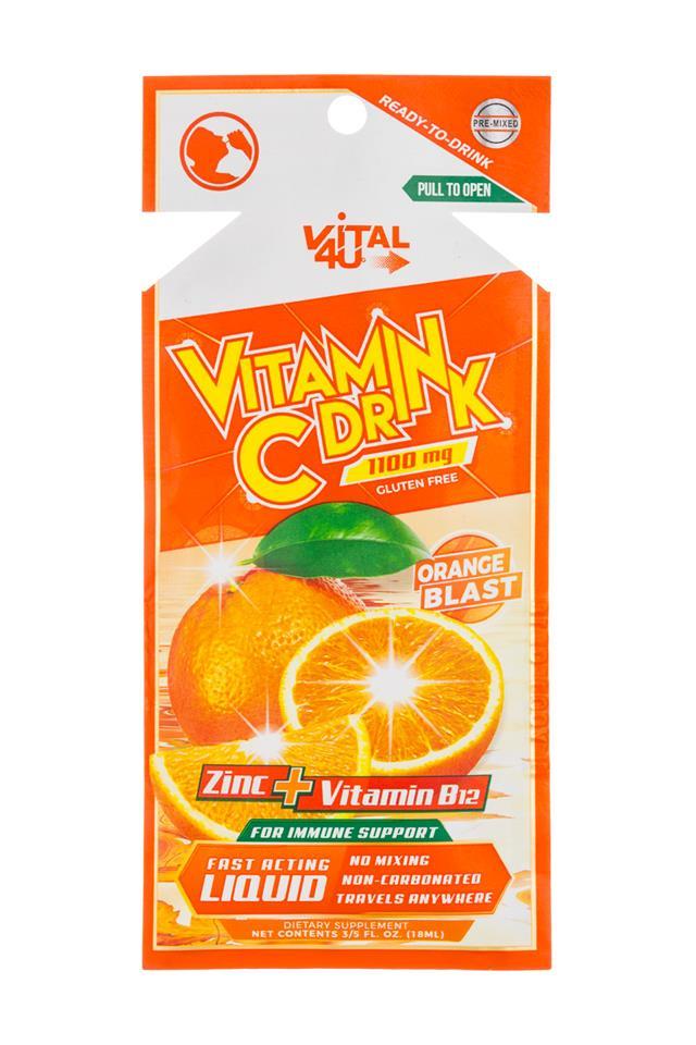 Vital 4U: Vital4U-1oz-VitaminCDrink-OrangeBlast-Front