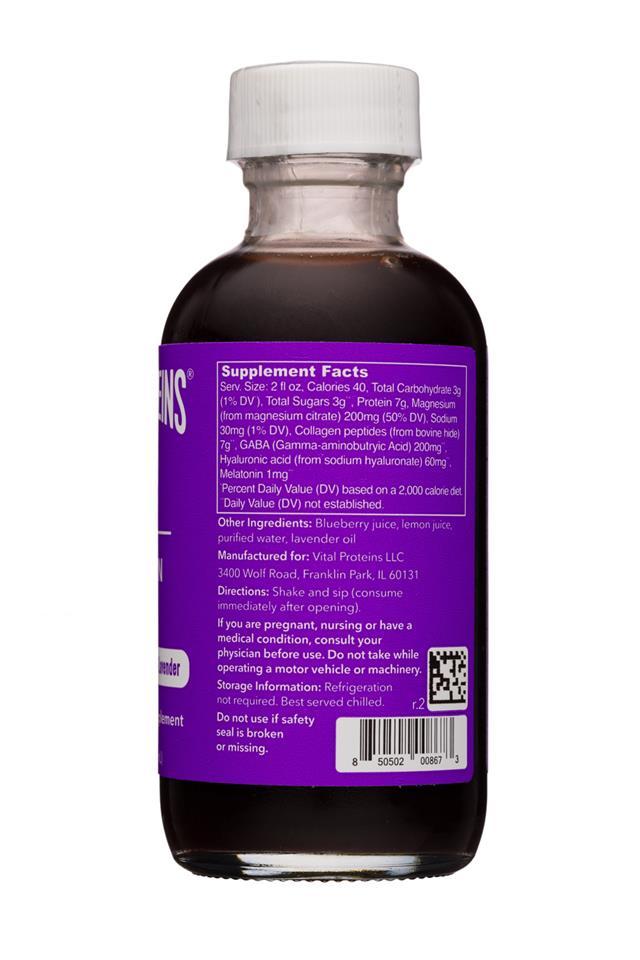 Vital Proteins: Collagen Shot: VitalProteins-2oz-CollagenShot-Sleep-Facts
