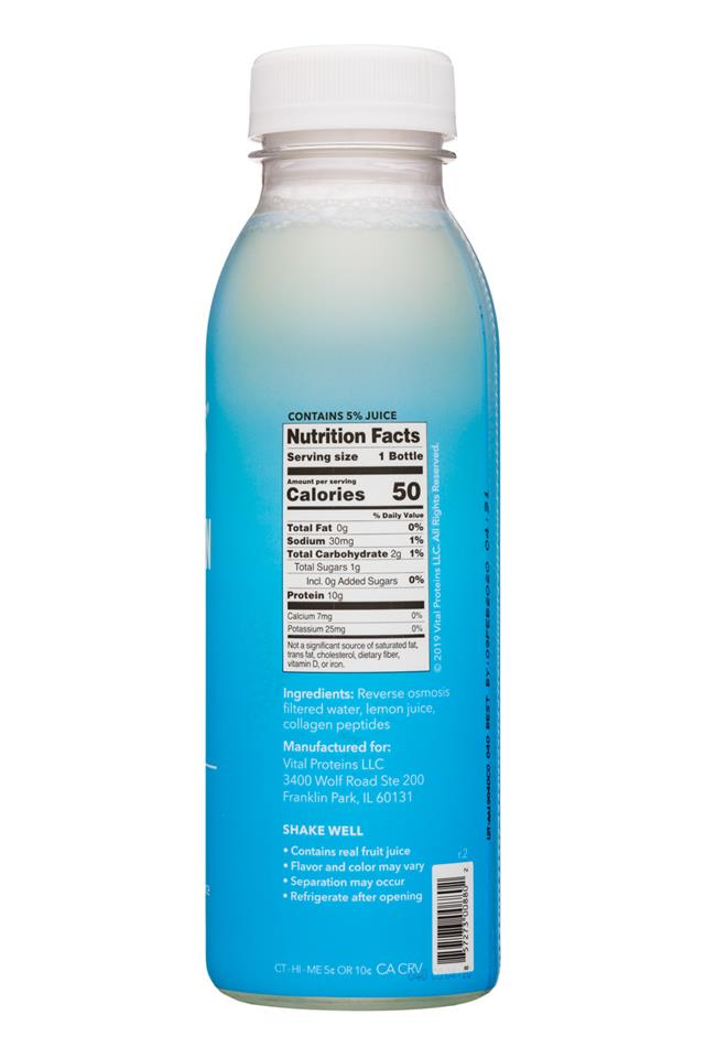 Vital Proteins: Collagen Water: VitalProteins-12oz-CollagenWater-Original-Facts