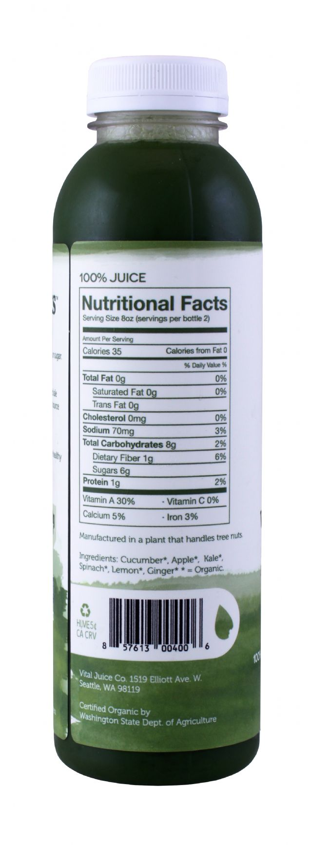 Vital Juice: VitalGreens LG Facts