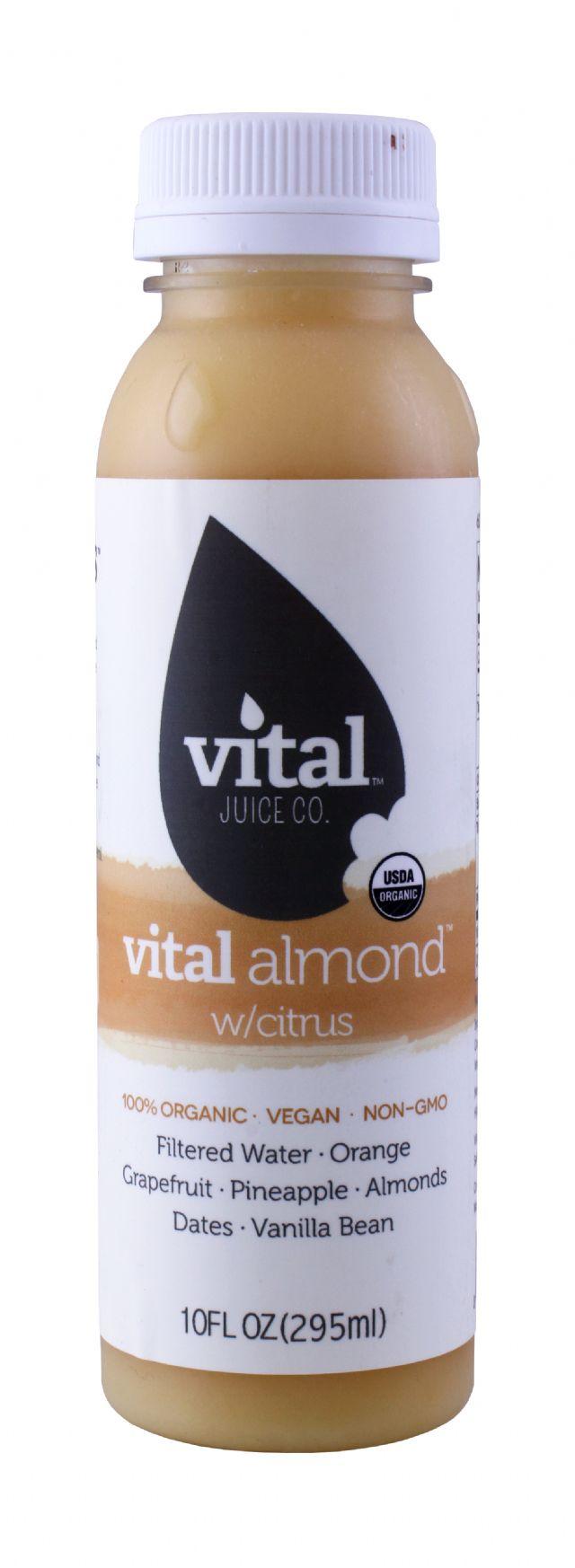 Vital Juice: VitalAlmond Citrus Front