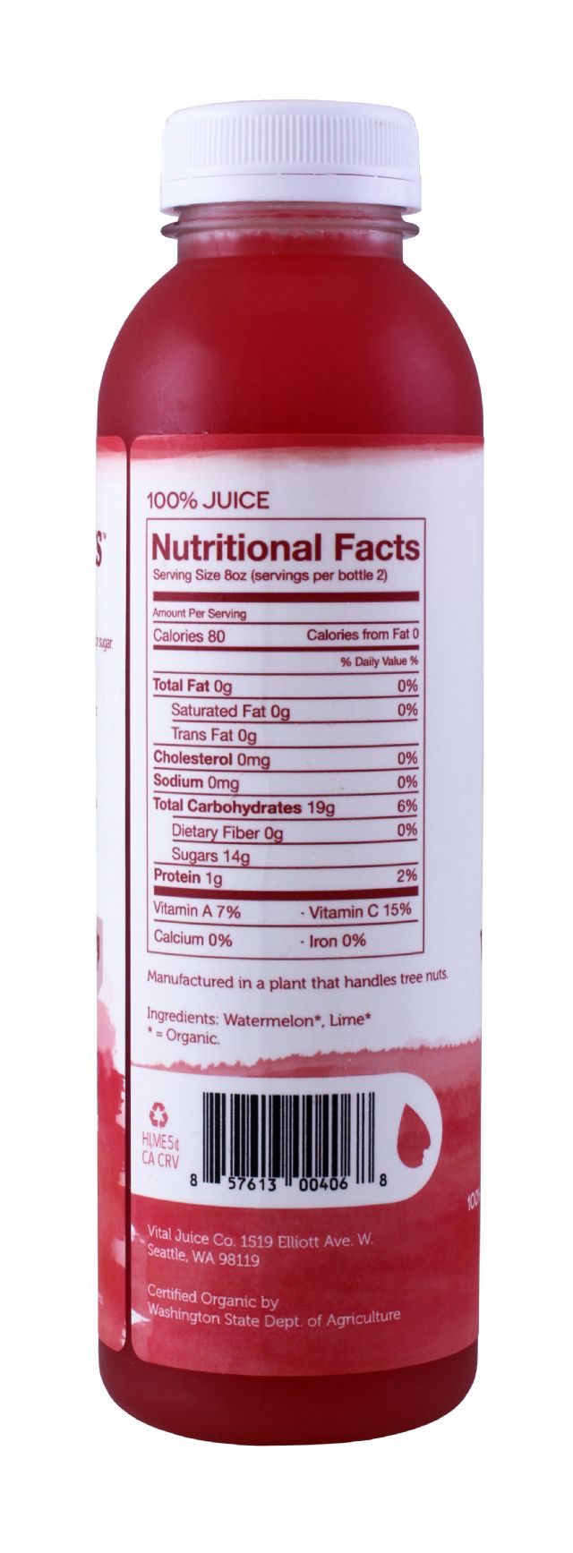 Vital Juice: VitalMelon LG Facts