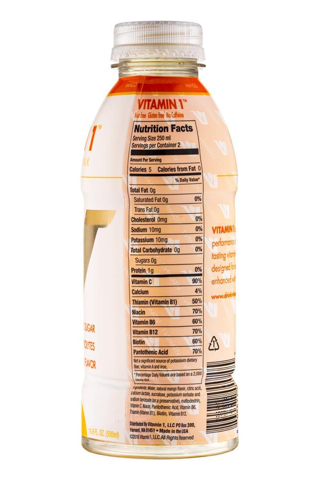 Vitamin 1: Vitamin1-PerfDrink-Mango-Facts