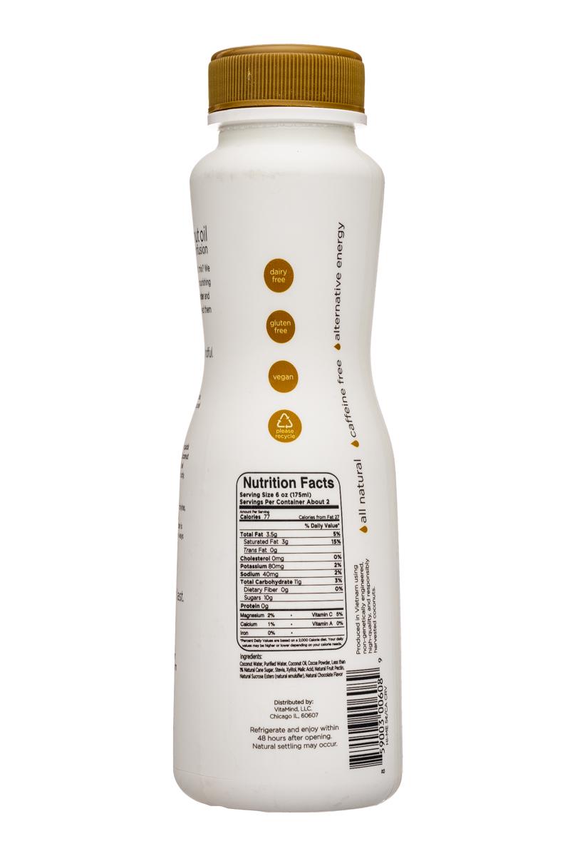 VitaMind: VitaMind-12oz-CoconutOilWater-Choc-Facts