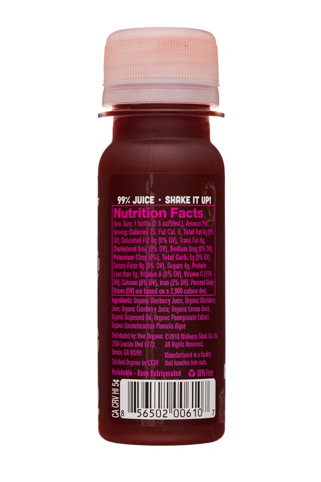 Vive Organic: ViveOrganic-2oz-Shot-AntioxidantDetox-Facts