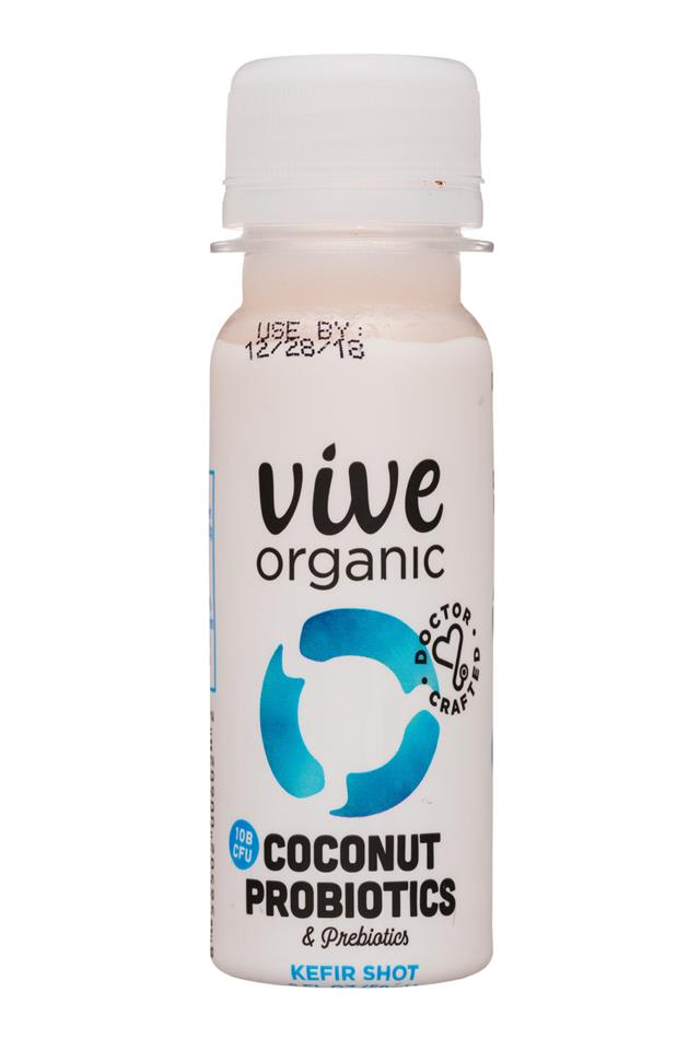 Vive Organic: ViveOrganic-2oz-Shot-CoconutProbiotics-Front