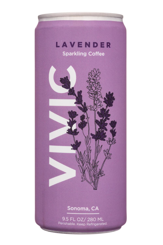 Vivic: Vivic-10oz-SparklingCoffee-Lavender-Front