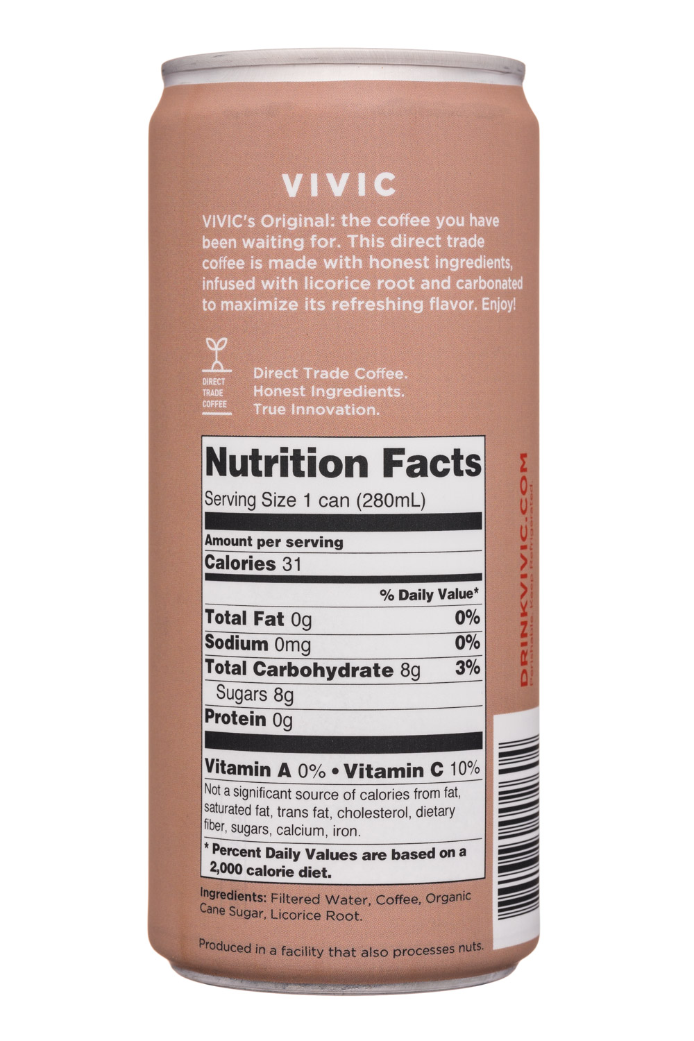 Vivic: Vivic-10oz-SparklingCoffee-Original-Facts