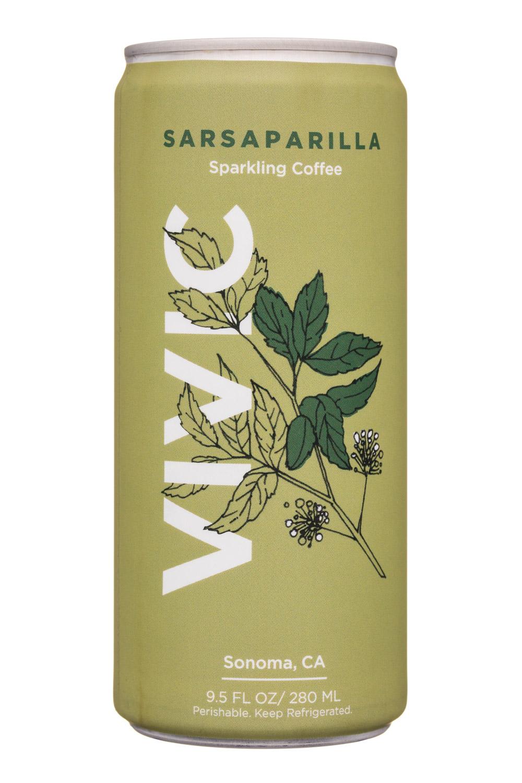 Vivic: Vivic-10oz-SparklingCoffee-Sarsaparilla-Front