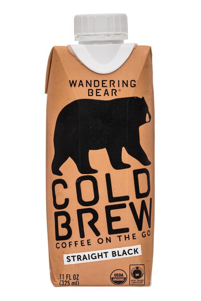 Wandering Bear Cold Brew: WanderingBear-11oz-ColdBrew-Black-Front