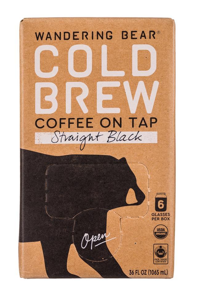 Wandering Bear Cold Brew: WanderingBear-36oz-ColdBrew-Black-Front